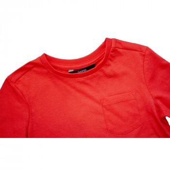 Футболка с длинным рукавом для мальчика ( 1 шт.) George красного цвета с карманом и разрезами по бокам 1684