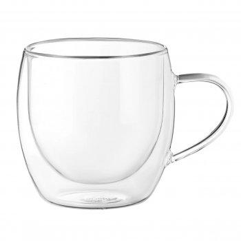 Набор чашек для кофе с двойными стенками ( двойным дном) 2 шт 300 мл Ardesto AR-2630GHN