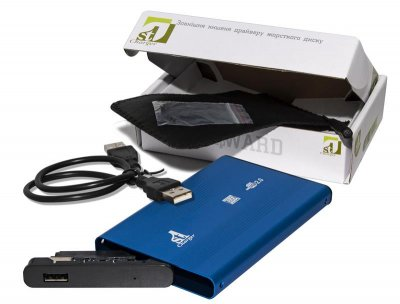 "Зовнішній кишеню 1StCharger SATA HDD/SSD 2.5"", USB 2.0, Blue (HDE1STU2520BB)"