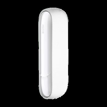 Набір Силіконовий чохол Ребристий + Бічна панель Глянець для IQOS (Айкос) 3/3 DUO (Дуо) Прозоро-Білий