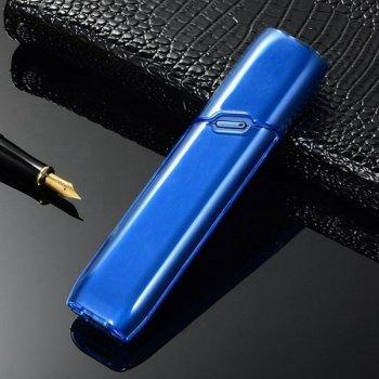 Пластиковый чехол для IQOS (Айкос) 3 MULTI (Мульти) Прозрачно-Синий