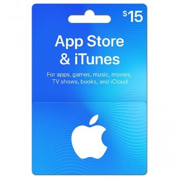 Подарочная карта iTunes Apple / App Store Gift Card 15 usd US-регион