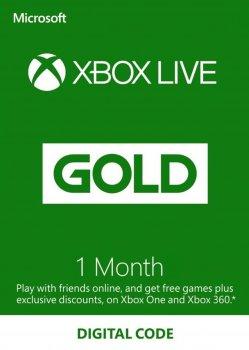 Xbox Live Gold - 1 месяц Xbox 360/One/Series подписка для всех регионов и стран