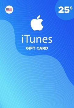 Подарочная карта iTunes Apple / App Store Gift Card 25 usd US-регион
