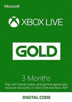 Xbox Live Gold - 3 місяці Xbox 360 / One / Series підписка для всіх регіонів і країн