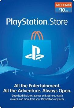 Цифровий код Соні PlayStation Network поповнення гаманця рахунку свого аккаунта на суму 10 usd, US-регіон