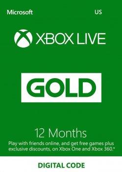 Электронный код (Подписка) Xbox Live Gold - 12 месяцев Xbox360/ One/Series для всех регионов и стран