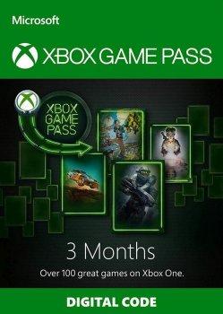 Электронный код (Подписка) Xbox Game Pass - 3 месяца Xbox One/Series для всех регионов и стран