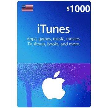 Подарочная карта iTunes Apple / App Store Gift Card 1000 usd US-регион