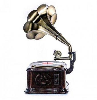 Ретро музичний центр Програвач Daklin Грамофон Париж на тумбі (Вініл AM/FM USB/CD MP3 BT)