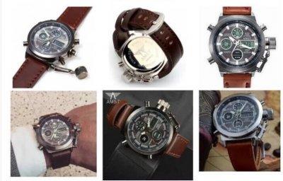 Мужские армейские часы AMST 3003 Коричневый