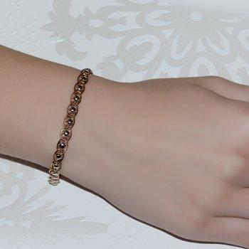 Браслет из красного золота в плетении Нонна Бисмарк 000003994
