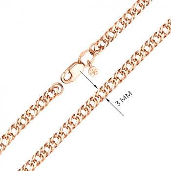 Браслет из красного золота в плетении Нонна 000002327
