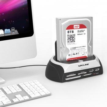 "Док-станция Wavlink SATA HDD 2,5 ""3,5"" USB 2.0 до 8 ТБ (sv0240)"