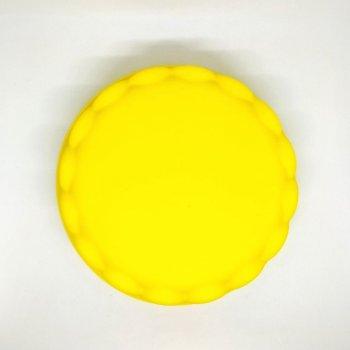 Силіконова форма для пирога MagicKitchen №629 Регіна 21х5 см жовта
