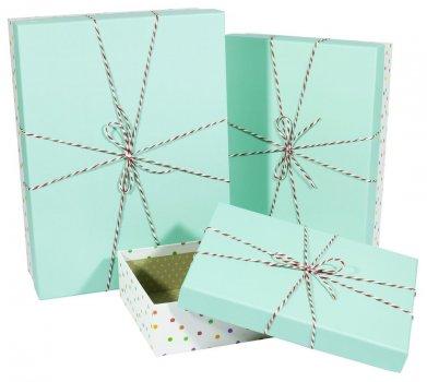 Подарункові коробки Unison прямокутні різнокольорові 33,5х25х11,5см 3 шт (91306-21)