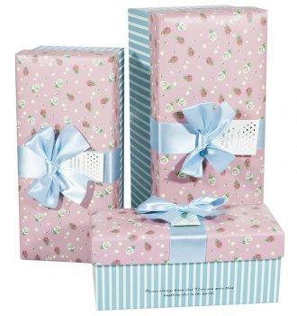 Подарункові коробки Unison прямокутні різнокольорові 30х14х13,5см 3 шт (CH01-17)