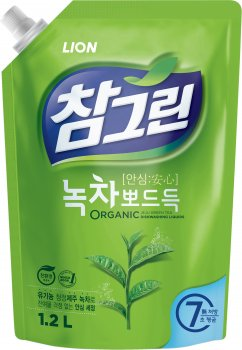 Средство для мытья посуды Lion Зеленый чай запаска 1.2 л (8801007655154)