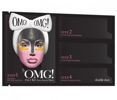 Комплекс масок четырехкомпонентный для ухода за кожей лица Double Dare Omg! 4in1 Kit Zone System Mask 1 шт (812772011425)