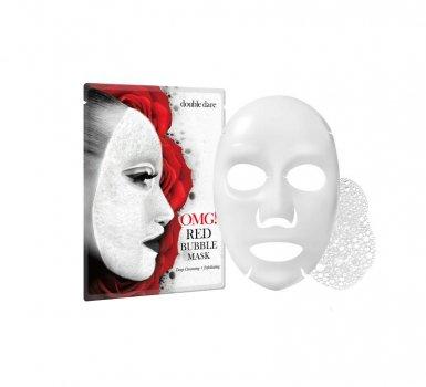 Баббл-маска очищающая Double Dare OMG! Red Bubble Mask с экстрактами 8 красных растений 1 шт (812772019827)