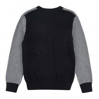 Кофта мальчика черная с серым Арт. 50965-14 Deloras
