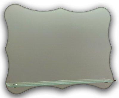 Зеркало оригинальной формы с полочкой Seria A №27 (500х650х120 мм)
