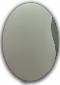 Зеркало овальное с декором Seria A №14 (600х450х4)