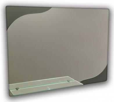 Зеркало горизонтальное, с полкой Seria A №93 (687х500х120 мм)