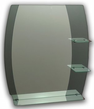 Зеркало с тремя полками Seria A №60 (687х600х120 мм)