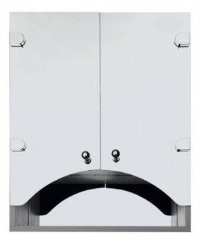 Зеркальный шкаф в ванную Seria A № А07-55 с фасадами в виде арки