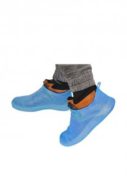 Бахилы для обуви многоразовые 37-38 голубые BR25627