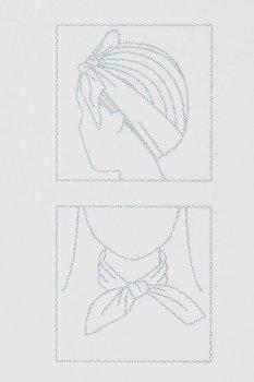 Платок на шею H&M 50х50 см белый горох 500435