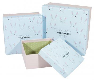 Подарункові коробки Unison квадратні різнокольорові 21х21х10см 3 шт (JKZ-54)
