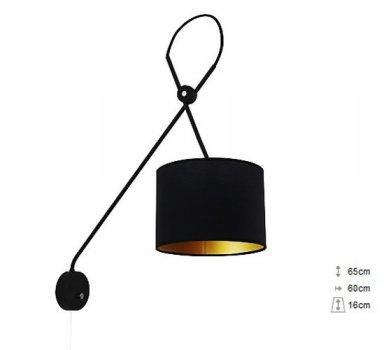 Бра Nowodvorski VIPER 6513 чорний/золото