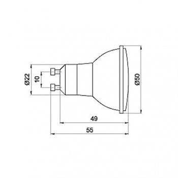 Лампа світлодіодна Brilum GU-10D 21LED 1,3 W зелена