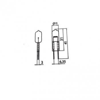 Лампа галогенна капсульна Brilum JC 50W G6.35 12V