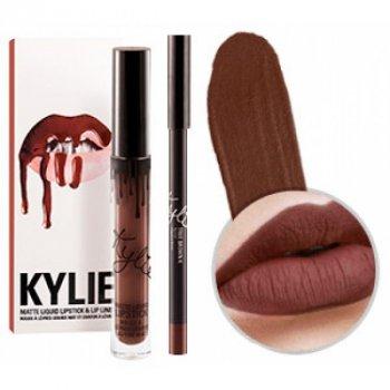 Матовая Kylie помада + карандаш True Brown K ( 121489)