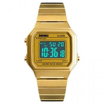Мужские часы Skmei 1377 Old School Золотистые (3643)