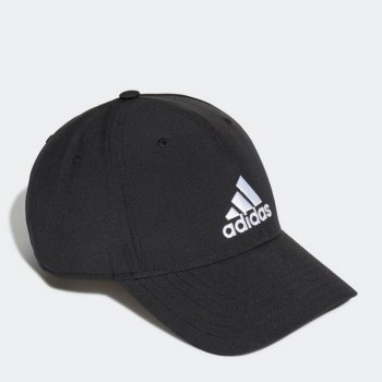 Кепка Adidas Bballcap Lt Emb GM4509 OSFM (XL) Black/Black/White (4064044168122)
