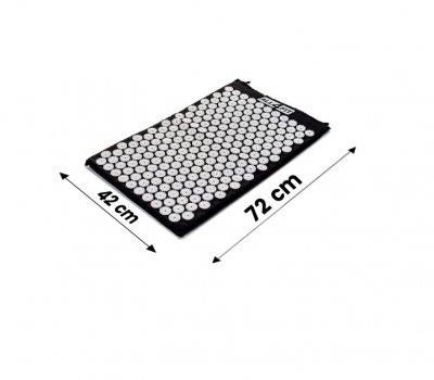 Коврик массажно-акупунктурный All4Fit 72 х 42 х 2 см, черный (JS3758)
