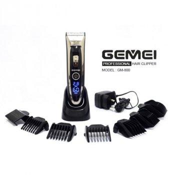 Профессиональная машинка для стрижки волос Geemy Gm-800 черная