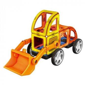 Конструктор магнитный Limo Toy стройтехника, 87 дет.