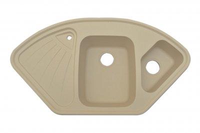 Гранітна плита, мийка Grant Elite кутова ivory