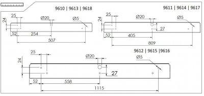 Світильник настінний Nowodvorski STRAIGHT LED 11W S 9610 білий