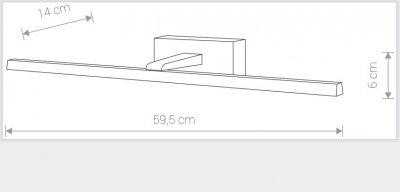 Світильник Nowodvorski VAN GOGH 12W LED M 9350 білий IP44