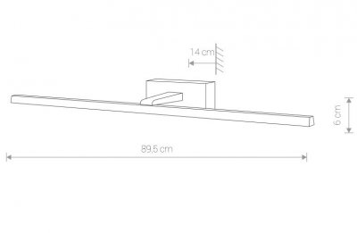 Світильник Nowodvorski VAN GOGH 18W LED L 9176 хром глянц IP44
