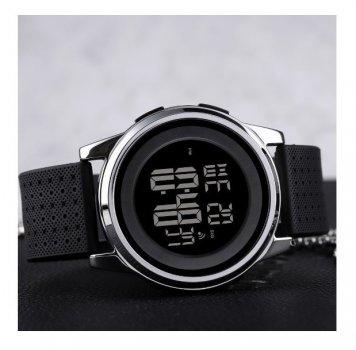 Годинники наручні електронні Skmei 1502 Black-Silver чорно-сріблясті 1080-0667