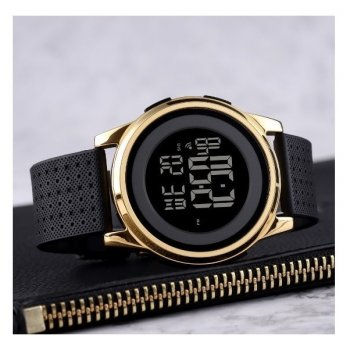 Годинники наручні електронні Skmei 1502 Black-Gold чорно-золоті 1080-0640