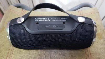 Портативна Колонка H40 Hopestar Bluetooth 2 динаміка Black з вологозахистом з FM приймачем (Bluetooth, MP3, AUX, Mic, FM)