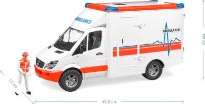 Машинка Bruder скорая помощь Mercedes Benz Sprinter с водителем (02536)